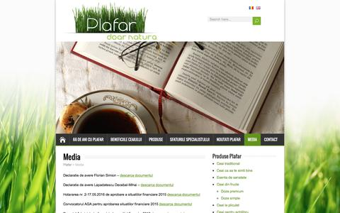 Screenshot of Press Page plafar.com - Media – Plafar - captured July 9, 2016