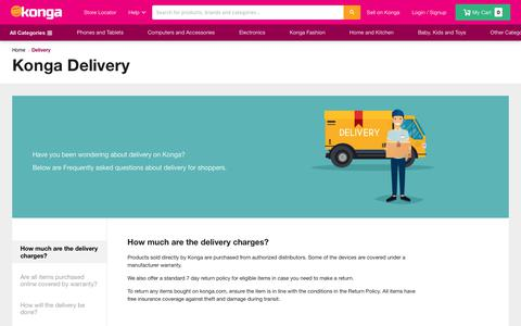 Screenshot of FAQ Page konga.com - Delivery | Konga Online Shopping - captured Oct. 21, 2018