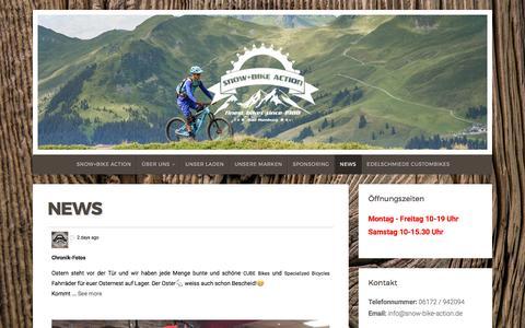 Screenshot of Press Page snow-bike-action.de - News | Snow+Bike Action - captured March 27, 2017