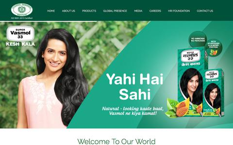Screenshot of Home Page hriindia.com - Hygienic Research Institute Pvt. Ltd. - A leading cosmetic brand - captured Sept. 20, 2017
