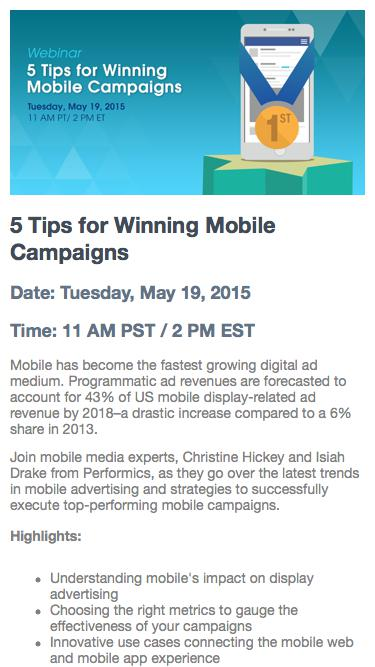 5 Tips for Mobile Campaigns