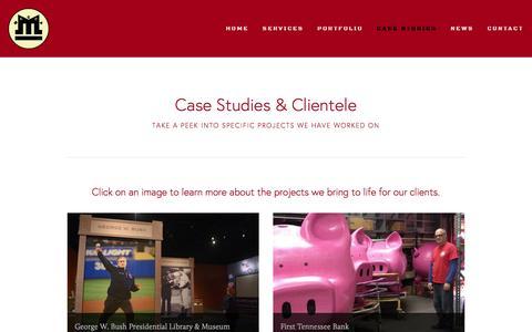 Screenshot of Case Studies Page meccadesign.com - Case Studies — Mecca Design & Production - captured Feb. 12, 2016