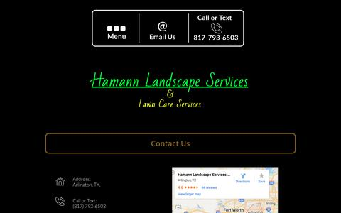 Screenshot of Contact Page hamannlandscape.com - Hamann Landscape Services - Contact Us - captured July 13, 2017