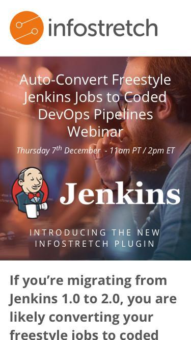 Auto-Convert Freestyle Jenkins Jobs to Coded DevOps Pipelines Webinar