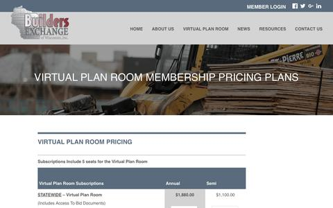 Screenshot of Signup Page bxwi.com - Membership Pricing & Signup | Builders Exchange of Wisconsin - captured July 5, 2017