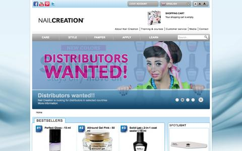 Screenshot of Home Page nailcreation.com - Nail Creation | Welcome to NailCreation.com - captured Sept. 30, 2014