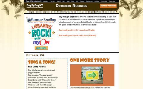 Screenshot of Home Page daybydayny.org - DayByDayNY Family Literacy Calendar - Day By Day NYFamily-Literacy Calendar - captured Oct. 24, 2018