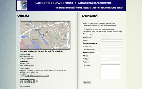 Screenshot of Contact Page vandenberghenpartners.nl - Contact - Van den Bergh & Partners B.V. - Gerechtsdeurwaarders & Incassospecialisten - captured Oct. 5, 2014