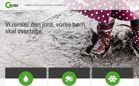 Screenshot of Home Page rgs90.dk - Start - captured Feb. 15, 2016