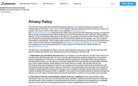Privacy Policy | Insureon