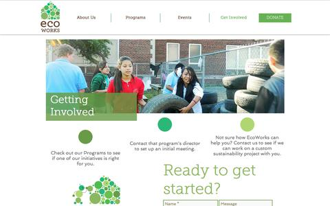 Screenshot of Contact Page ecoworksdetroit.org - Get Started - captured Sept. 24, 2018