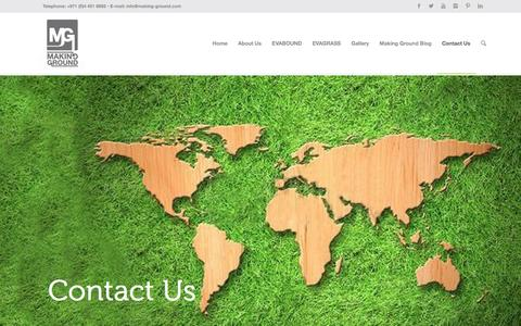 Screenshot of Contact Page making-ground.com - Contact Us - captured Dec. 17, 2015