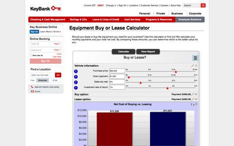 Equipment Buy or Lease Calculator