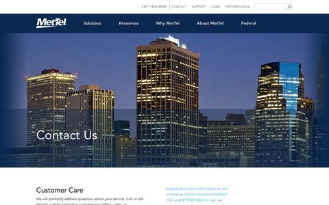 Screenshot of Contact Page mettel.net - Contact - captured June 19, 2016