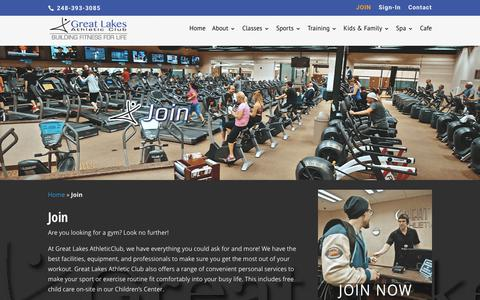 Screenshot of Signup Page greatlakesathleticclub.com - Join - Great Lakes Athletic Club - captured Sept. 19, 2017