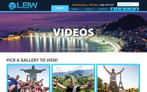 Screenshot of Press Page lbwtravel.com - LBWTravel - Videos - captured Jan. 29, 2016