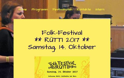 Screenshot of Privacy Page folkfestival.ch - Datenschutz - Folkfestival.ch - captured March 24, 2017