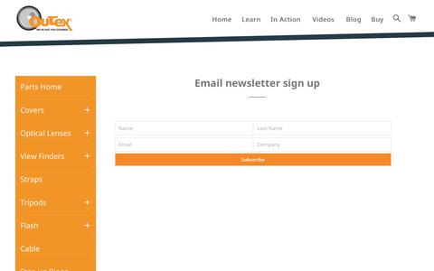 Screenshot of Signup Page outex.com - Email newsletter sign up – Outex - captured June 14, 2017