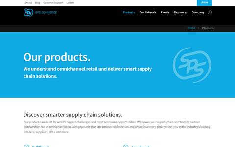 Screenshot of Products Page spscommerce.com - EDI Integration, Inventory, & Enablement Services | SPS Commerce - captured Dec. 4, 2015