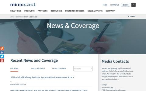 Email security news coverage, press releases | Mimecast