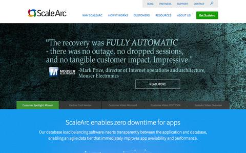Screenshot of Home Page scalearc.com - ScaleArc - captured July 3, 2015