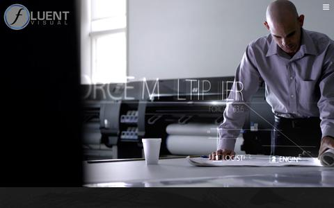 Screenshot of Home Page fluentvisual.com - Fluent Visual - captured Jan. 8, 2016