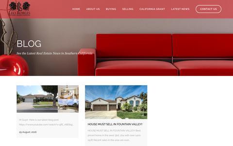 Screenshot of Blog leorobles.net - Leo Robles Riverside Realtor Latest Real Estate News and Houses - captured Nov. 6, 2016