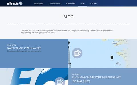 Screenshot of Blog allsatis.de - Blog | allsatis.de - captured Sept. 30, 2014