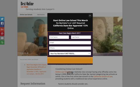 Screenshot of Home Page best-online-law-school.com - Online Law Schools - Online Law Schools - captured Dec. 29, 2016