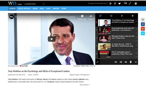 Screenshot of Team Page wn.com - Leadership - captured Nov. 29, 2018