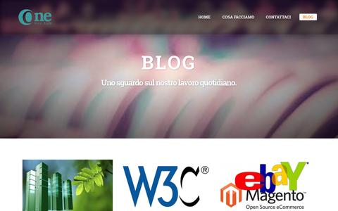 Screenshot of Blog onenetlab.com - ONENETLAB: il blog - captured Oct. 29, 2014