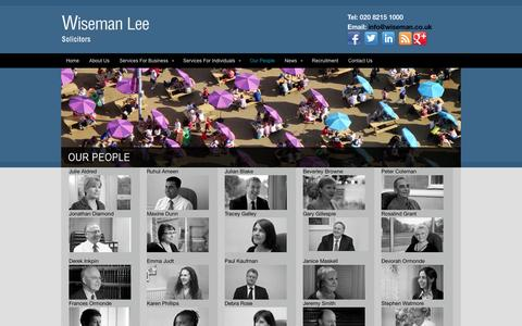 Screenshot of Team Page wiseman.co.uk - Wiseman Lee LLP: Our People - captured Oct. 7, 2014
