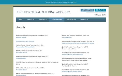 Screenshot of Press Page designbuildmadison.com - Architectural Building Arts | Architects Madison | Remodelers | PRESS - captured Oct. 4, 2014