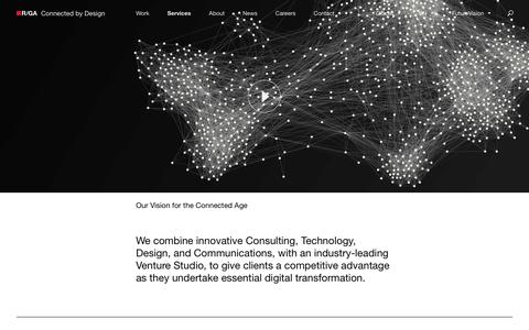 Screenshot of Services Page rga.com - R/GA Connected by Design - captured April 14, 2017