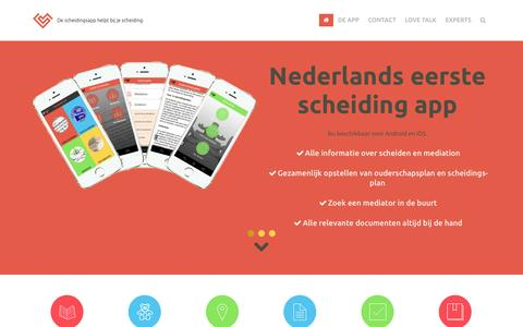 Screenshot of Home Page scheidings-app.nl - Scheiding App » scheiding app - captured Jan. 28, 2015