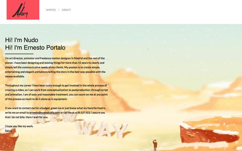 Screenshot of About Page nudostudio.com - About – Nudo - captured June 16, 2017