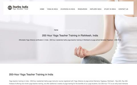 200 Hour Yoag Teacher Training in Rishikesh, India : 2017
