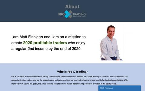 Screenshot of About Page proxtrading.com - About Us : Pro X Trading Techniques & Strategies. - captured Sept. 29, 2018
