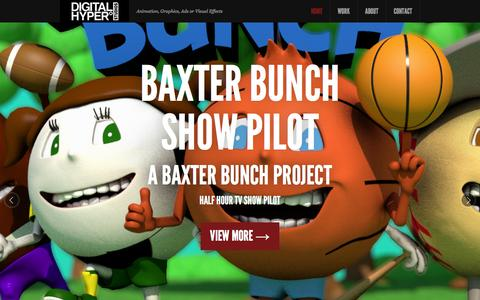 Screenshot of Home Page digitalhyper.com - Home - Charlotte Animation Graphics 3D Models - captured Feb. 9, 2016
