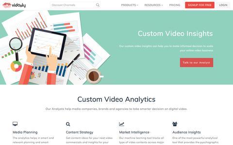 Custom Online Video Insights, Market & Audience Intelligence Reports | Vidooly