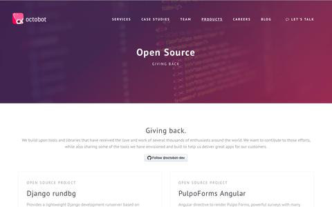 Screenshot of Products Page octobot.io - Octobot - Open Source - captured Nov. 7, 2017
