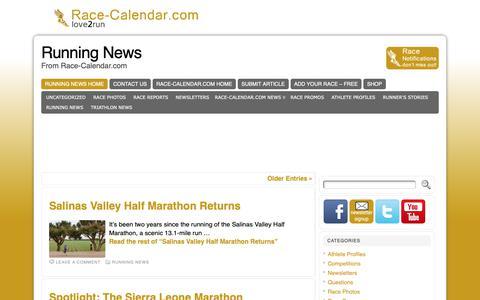 Screenshot of Press Page race-calendar.com - Running News - From Race-Calendar.com - captured Oct. 19, 2018