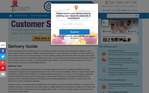 Screenshot of FAQ Page zflowers.com.au - Flower Delivery by Australia's Leading Online | AU-AUD-EN - captured June 25, 2017