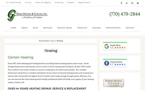 Canton Heating Repairs by Green Heating and Cooling