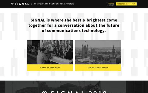 SIGNAL: The developer conference by Twilio