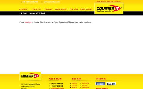 Screenshot of Terms Page courierituk.com - Terms and Conditions | CourierIT – Specialist courier and freight services to Africa - captured Oct. 3, 2014
