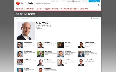 Screenshot of Team Page lexisnexis.com - LexisNexis Legal & Professional Global Leadership - captured June 17, 2017
