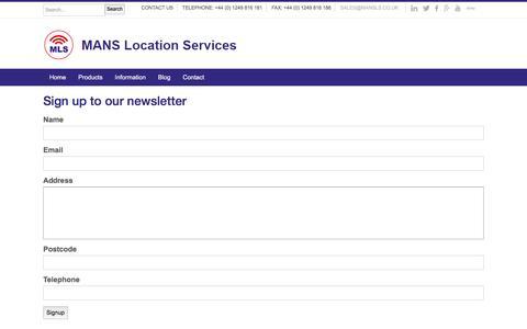 Screenshot of Signup Page mansls.com - Newsletter Signup   MLS Security - captured Nov. 17, 2016