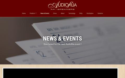 Screenshot of Press Page af-speakers.com - News   Audiofilia AF-Speakers - captured Nov. 21, 2016