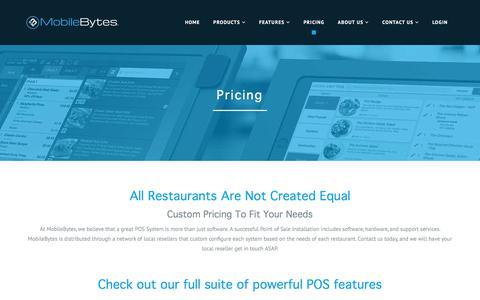 Screenshot of Pricing Page mobilebytes.com - Pricing | MobileBytes - captured Sept. 21, 2018